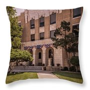 Moore County Courthouse Throw Pillow