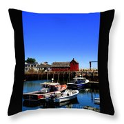 Moored Boats Throw Pillow