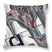 Moored Shift Colors Throw Pillow