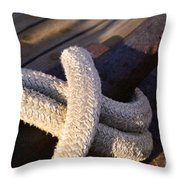 Mooring Rope Throw Pillow