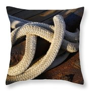 Mooring Rope Made Fast Throw Pillow