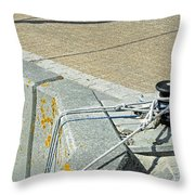 Mooring Ropes - Ryde Harbour Throw Pillow