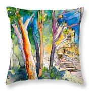 Moorish Castle In Sintra 02 Throw Pillow