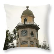 Moorish Clock Tower In Guayaquil Throw Pillow