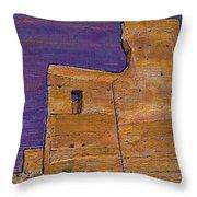 Moorish Fort In Jumilla Throw Pillow