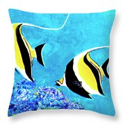 Moorish Idol Fish  #50 Throw Pillow
