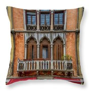 Moorish Style Windows Venice_dsc1450_02282017 Throw Pillow