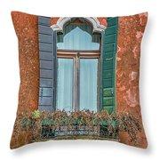 Moorish Window And Texture Venice_dsc5350_03052017 Throw Pillow
