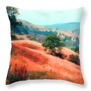 Moorland Hillside  Throw Pillow