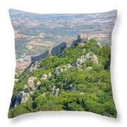 Moors Castle Aerial Throw Pillow