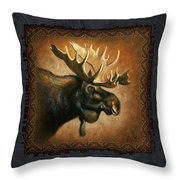 Moose Lodge Throw Pillow