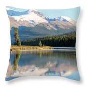 Moose On The Lake Throw Pillow