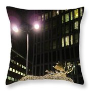 Moose On The Lose Throw Pillow