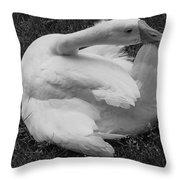 Moose The Goose Throw Pillow