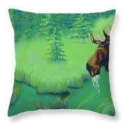 Moose Throw Pillow by Tracy L Teeter