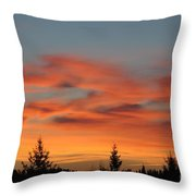 Moose Valley Sunrise Throw Pillow