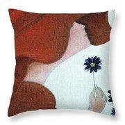 Mopart Lady Throw Pillow