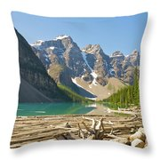 Moraine Lake - Canadian Rockies Throw Pillow