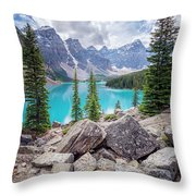 Moraine Lake Afternoon II Throw Pillow