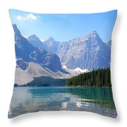 Moraine Lake Down Low Throw Pillow