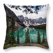 Moraine Lake Throw Pillow