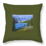 Moraine Lake, 16x20, Oil, '07 Throw Pillow