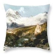 Moran: Teton Range, 1897 Throw Pillow