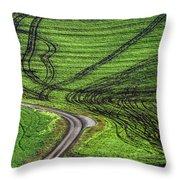 Moravian Patterns Throw Pillow