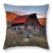 More Barn Steamboat Throw Pillow
