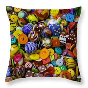 More Beautiful Marbles Throw Pillow
