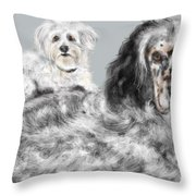 More Best Buds Throw Pillow