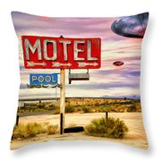 More Bloody Tourists Throw Pillow