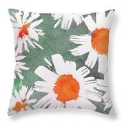 More Bunch Of Daisies Throw Pillow