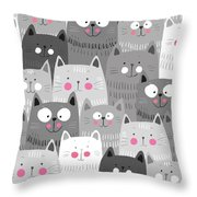 More Cats Throw Pillow