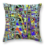 More Colors Abstract Throw Pillow