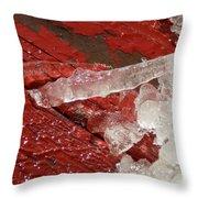 More Fallen Ice Throw Pillow
