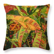 More Fern Abstraction Throw Pillow