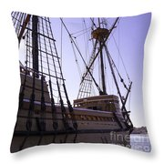 More Mayflower In Mystic Throw Pillow