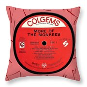 More Of The Monkees Lp Label Throw Pillow
