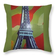 More Parisian  Murals.....  Throw Pillow