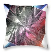 More Shattered Art Throw Pillow
