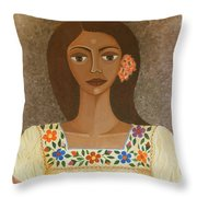 More Than Flowers She Sold Illusions Throw Pillow