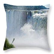 More Waterfalls At Devil's Throat In Iguazu Falls National Park-  Throw Pillow