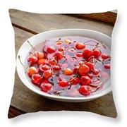 Morello Cherries Throw Pillow