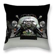 Morgan 3 Wheeler Front End Throw Pillow