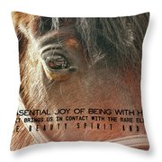 Morgan Horse Quote Throw Pillow