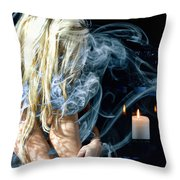 Morgan In Smoke Throw Pillow