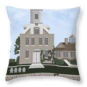 Morgan Point Mystic Harbor Conn Throw Pillow