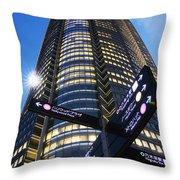 Mori Tower Throw Pillow