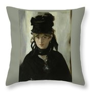 Morisot With A Bouquet Of Violets Throw Pillow